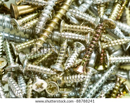 assortment of  screws - stock photo