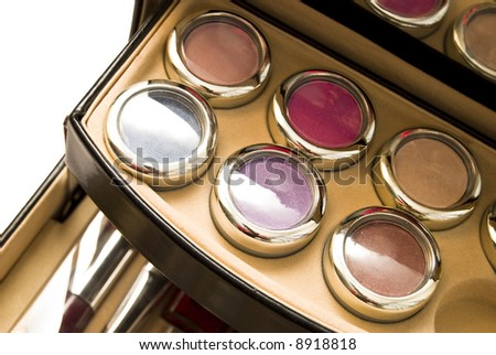 assortment of women's cosmetics - stock photo