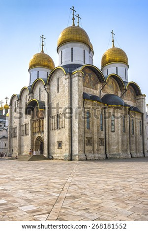 Assumption Cathedral of Moscow Kremlin, Russia - stock photo