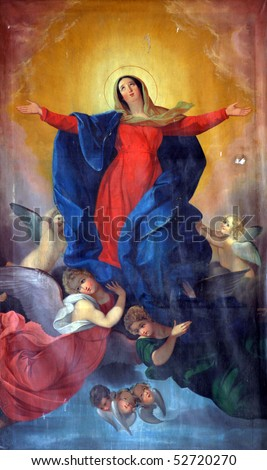 Assumption of the Virgin Mary - stock photo