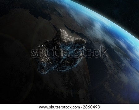 asteroid - stock photo