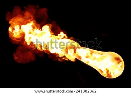 Asteroid, meteor, fireball, flame burning, atmosphere contact  - stock photo