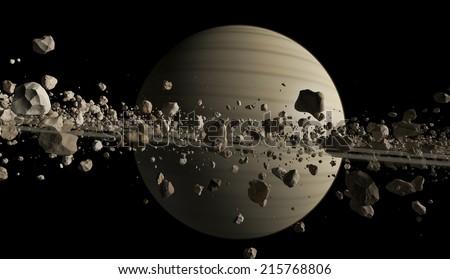 Asteroids - stock photo