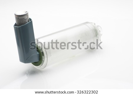 Asthma inhaler with spacer