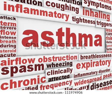 Asthma poster background. Health care poster design - stock photo