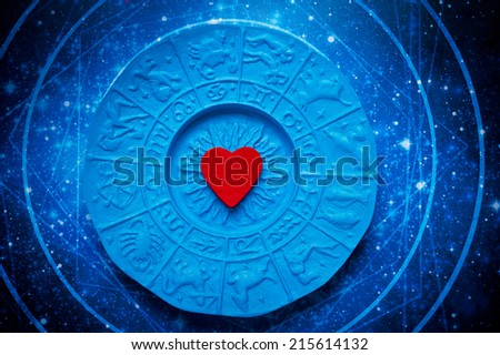 astrology and love - stock photo
