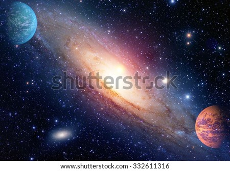 Astrology astronomy outer space big bang solar system planet galaxy creation. Elements of this image furnished by NASA. - stock photo