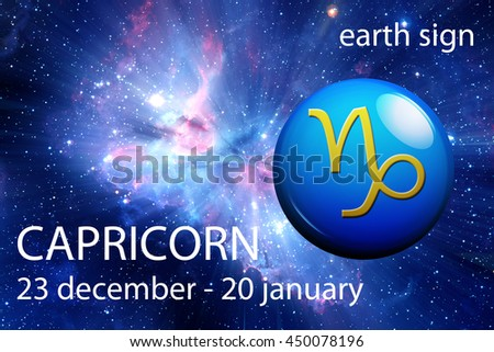 astrology sign of Capricorn - stock photo