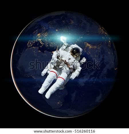 Spacecraft Progress Orbiting Earth Elements This Stock ...