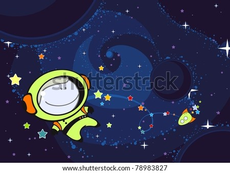 Astronaut (raster version) - stock photo