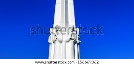 Astronomers monument at the Griffith Observatory in Los Angeles, California - stock photo