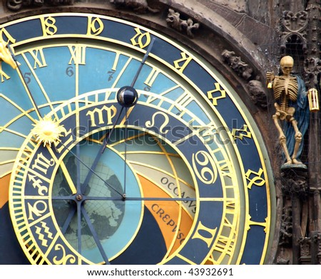 astronomical clock closeup