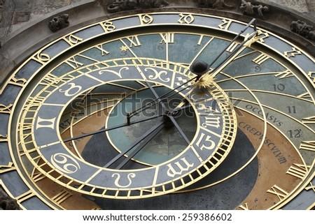 Astronomical clock dial - stock photo