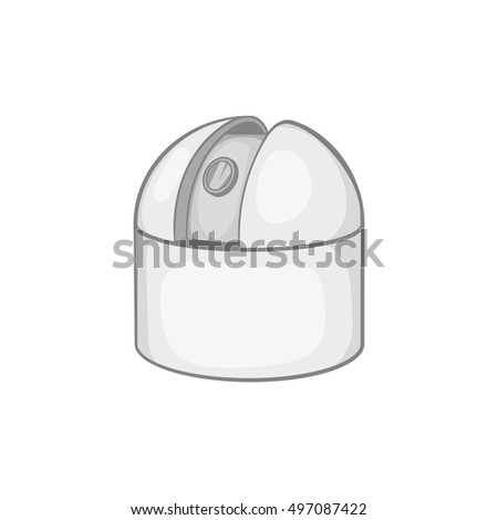 Astronomical observatory icon in black monochrome style on a white background  illustration