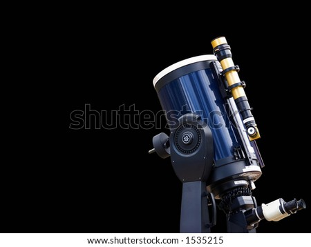 Astronomy telescope - isolated with clipping path