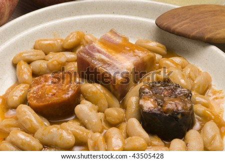 Full english breakfast including sausages grilled stock for Asturian cuisine