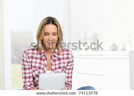 at home - stock photo