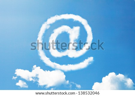 at internet sign in cloud shape - stock photo
