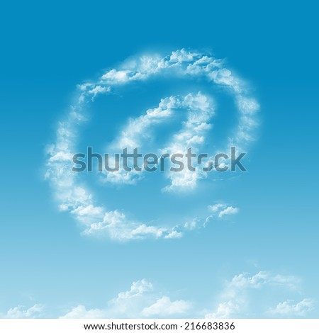 at sign cloud shape