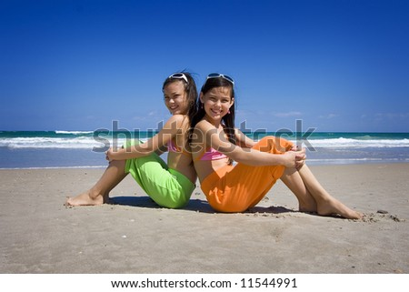 At the beach - stock photo