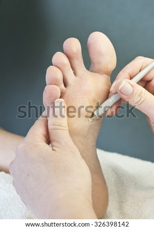 at the beautician - stock photo