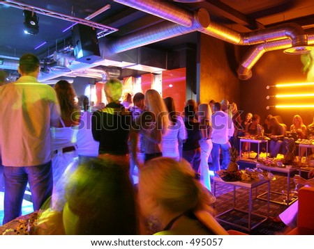 At the club - stock photo
