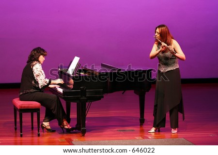 At the concert - stock photo