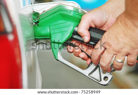At the gas station - stock photo