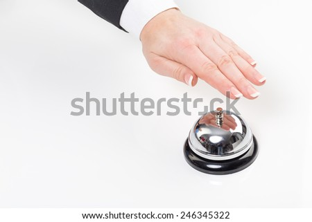 at the hotel - stock photo