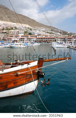 at the marina, Tenerife, Spain - stock photo