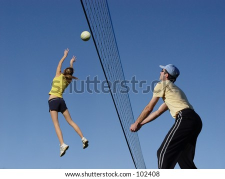 At the net - stock photo