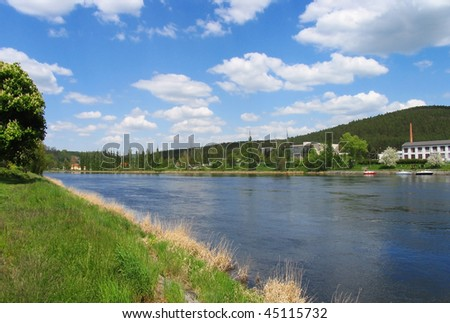 At the river - stock photo