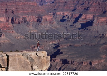 At the very tip of Grand Canyon - stock photo