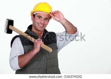 At your service mam - stock photo