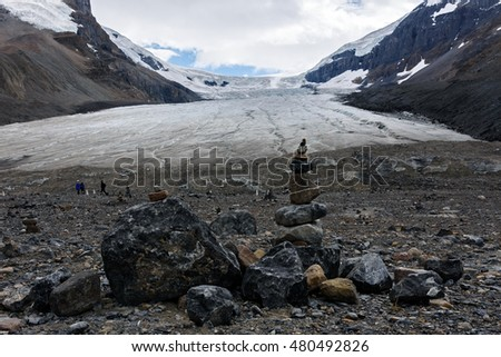 Athabasca Glacier at Columbia Icefield, Japser National Park, Canada