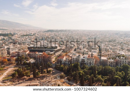 Athens Cityscape Aerial View Ancient Greece Stock Photo 100 Legal