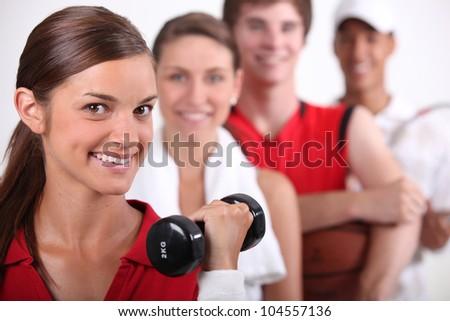 Athletes - stock photo