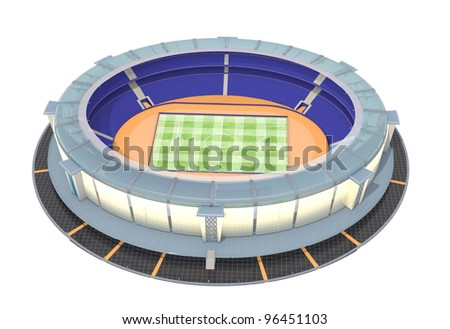 athletic and football stadium top view