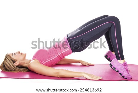 Athletic young woman in training  - stock photo