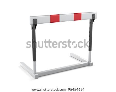 Athletics hurdle isolated on white background - 3d render - stock photo