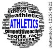 ATHLETICS info text graphics and arrangement concept (word clouds) on white background - stock