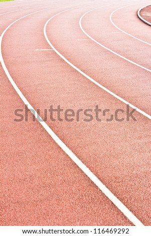 Athletics Stadium Running track rubber standard red color