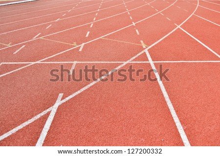 Athletics Track Lane - stock photo