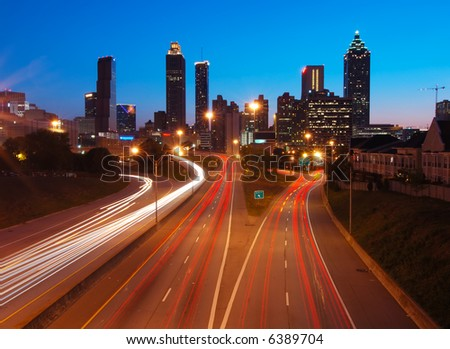 Atlanta Downtown Overlook's at Dusk