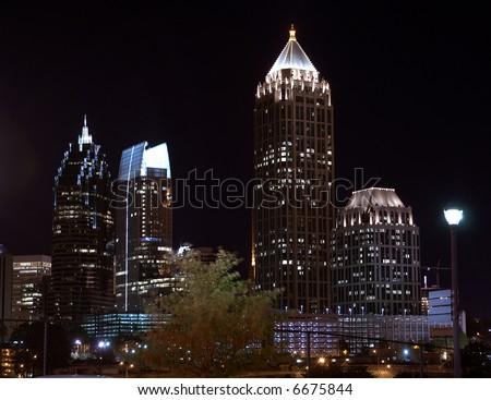 Atlanta Georgia Skyline at night - stock photo