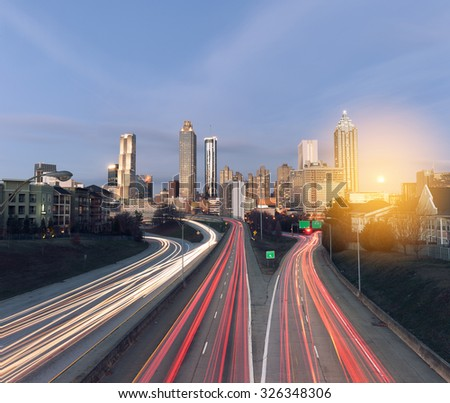 Atlanta skyline at sunrise, Georgia, USA