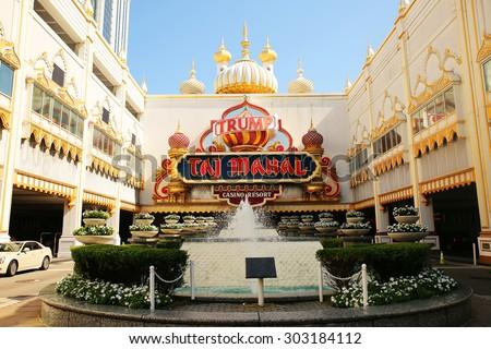 ATLANTIC CITY - AUGUST 3: The Trump Taj Mahal Casino Resort August 3, 2015 in Atlantic City, New Jersey - stock photo