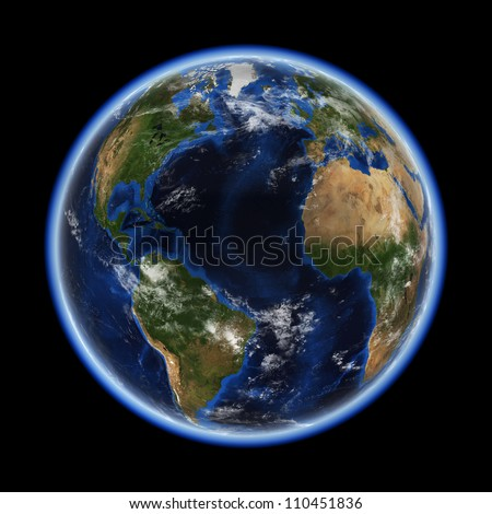 Atlantic. Elements of this image furnished by NASA - stock photo