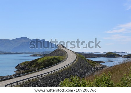 Atlantic Ocean Road. Norway