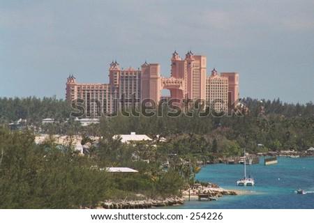 Atlantis Hotel and Casino Nassau Bahamas - stock photo